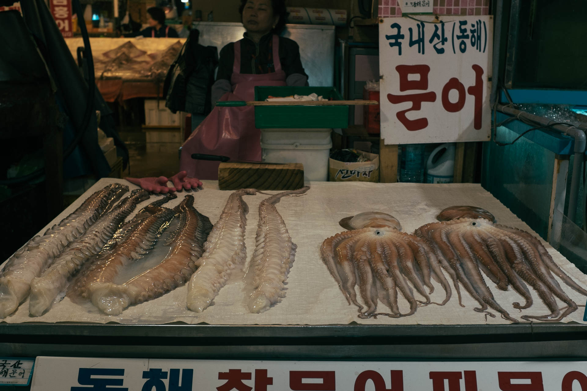 Octopus stall