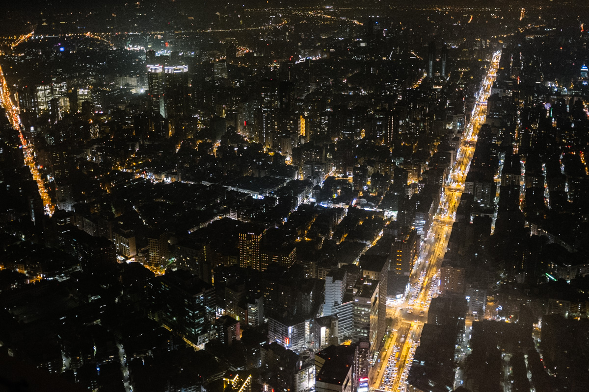 Taipei by night as seen from Taipei 101