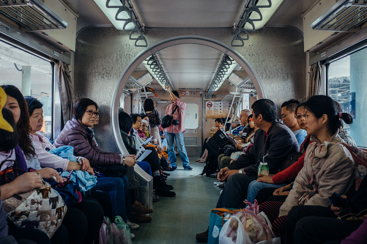 Aboard the Pingxi train