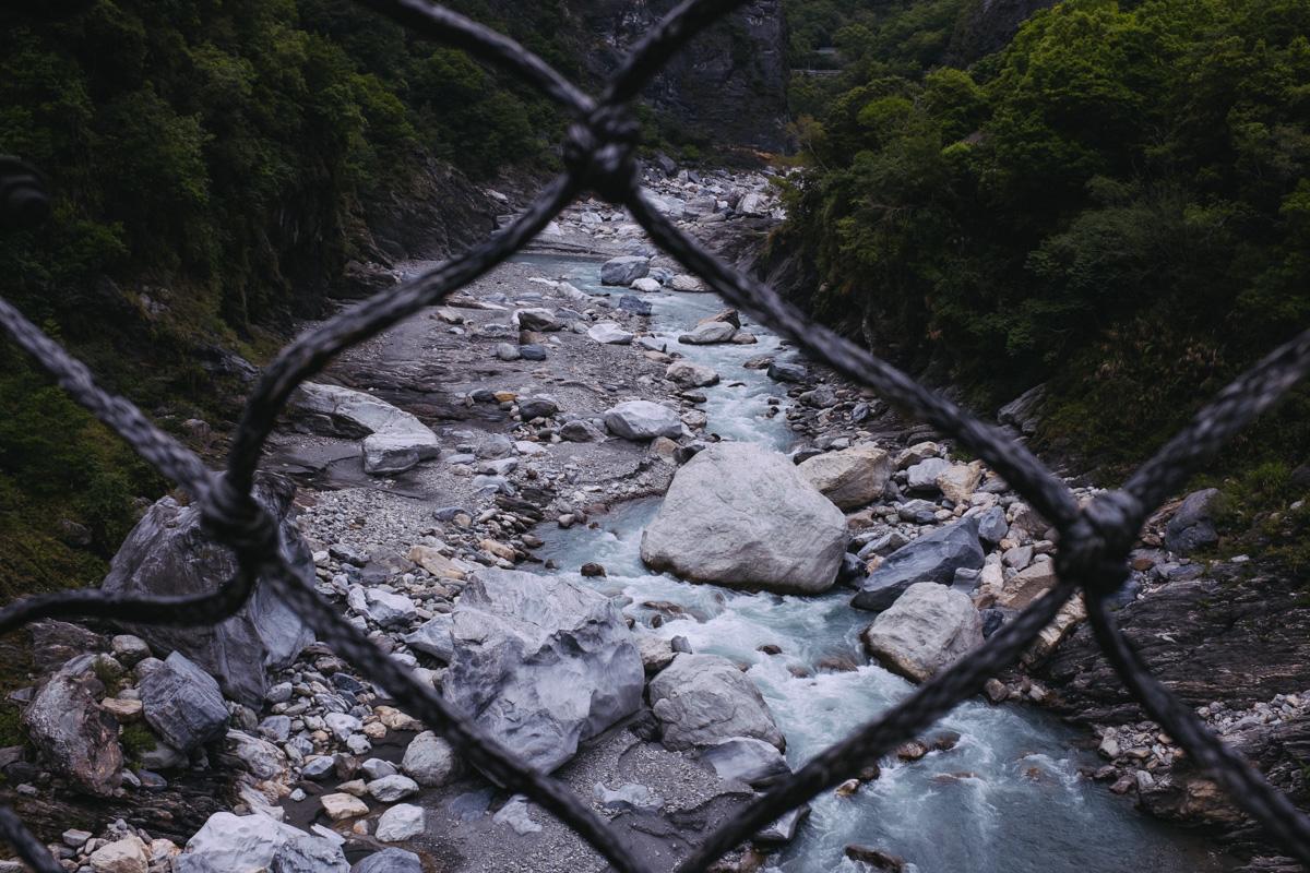 River through fence