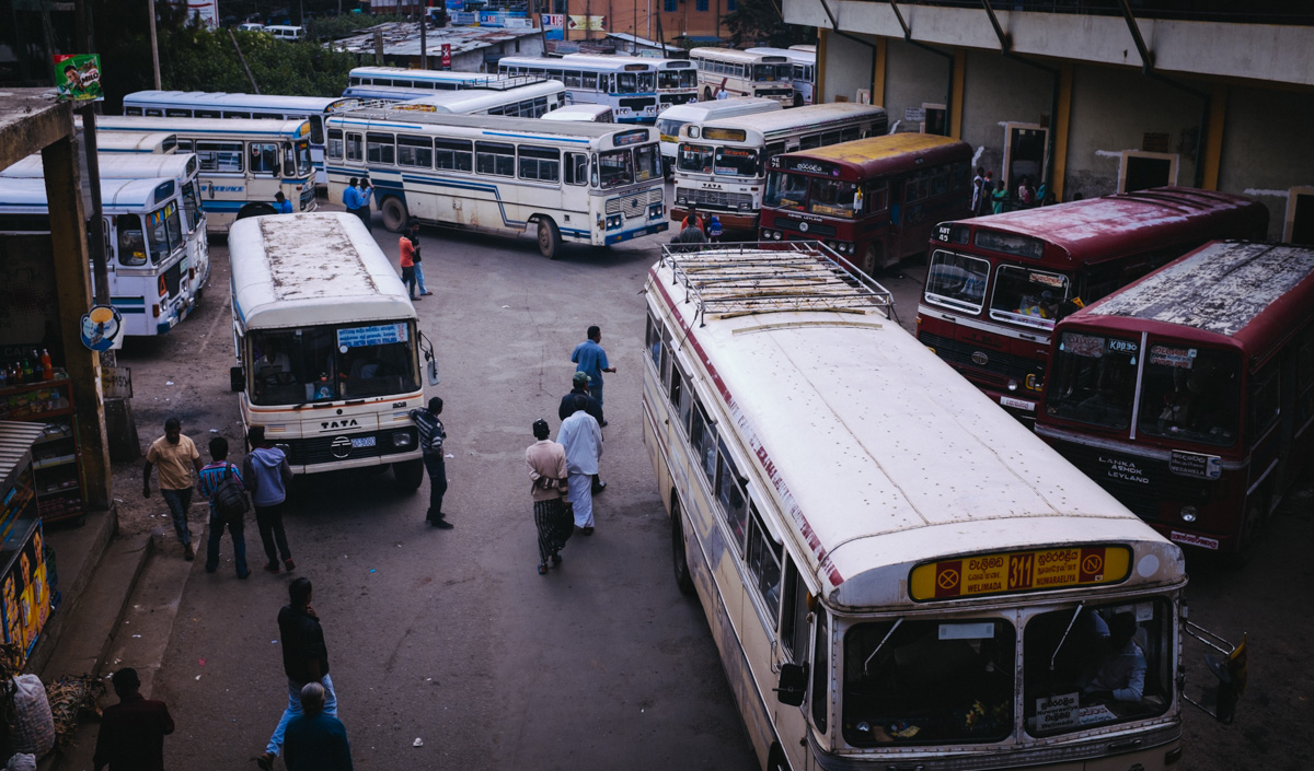 Bus station in Nuwara Eliya