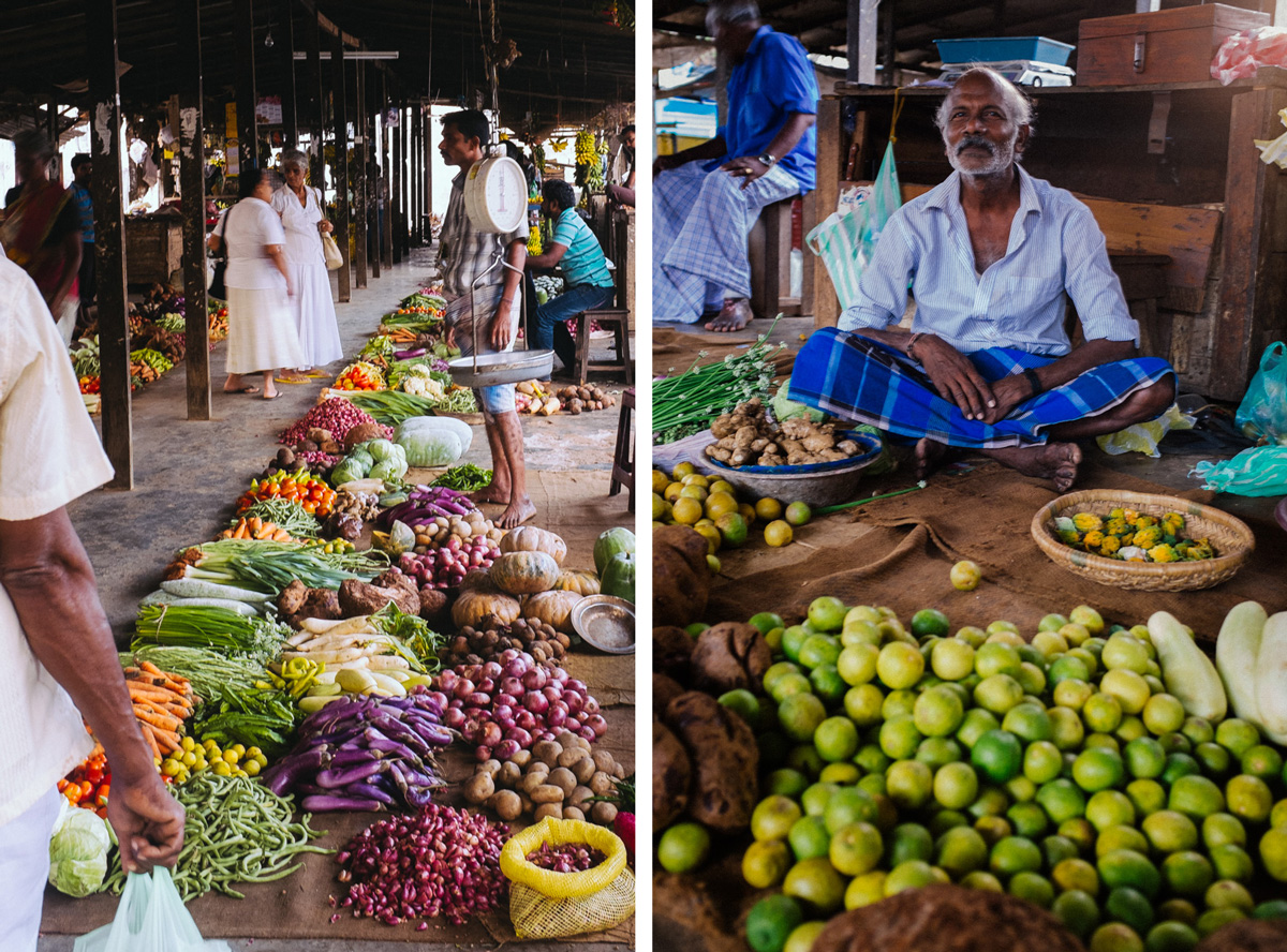 Public vegetable market in Jaffna