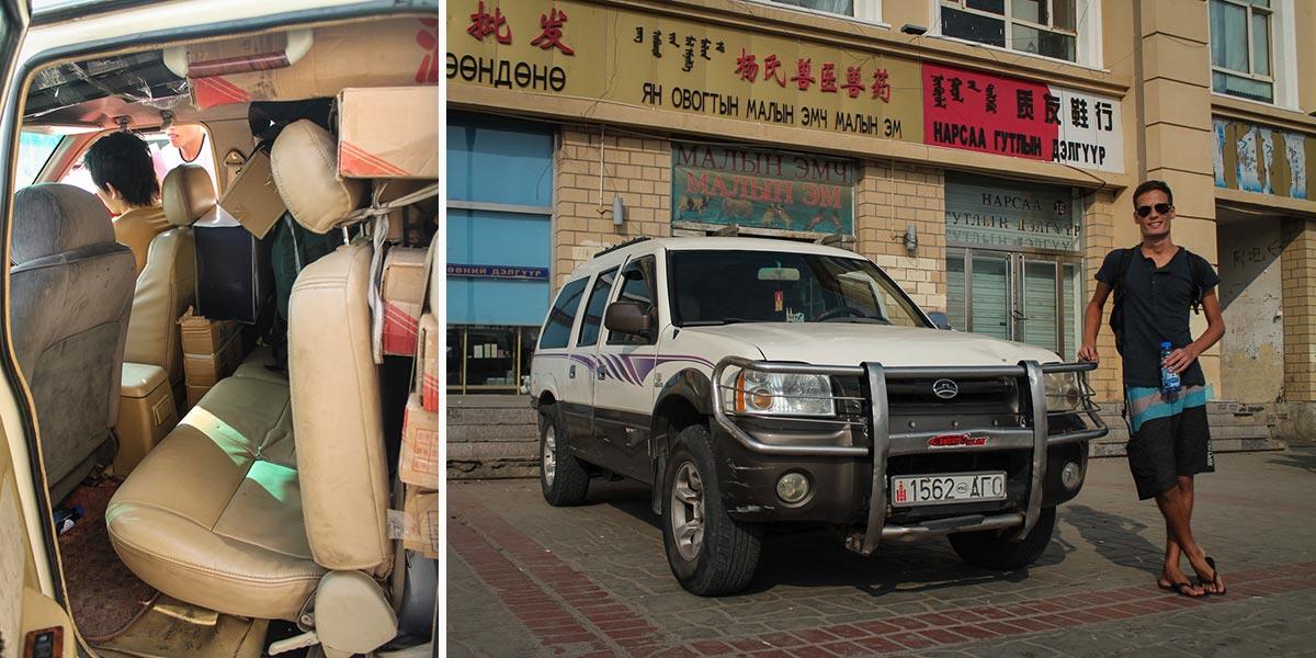 Mongolian jeep