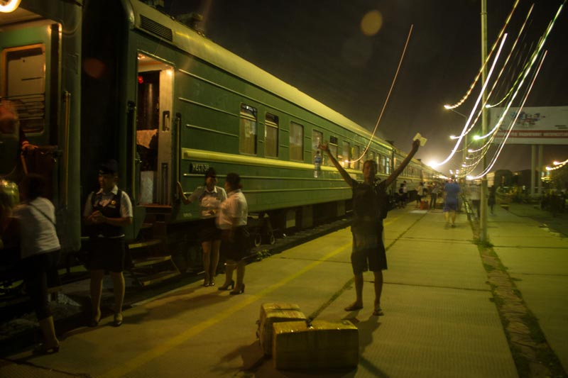 Train 43 is about to leave Zamiin-Uud