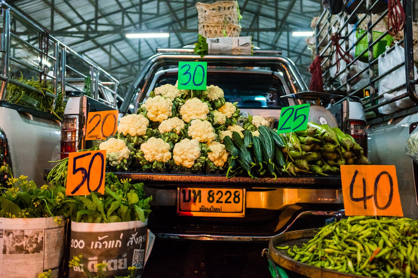 Cauliflower on truck