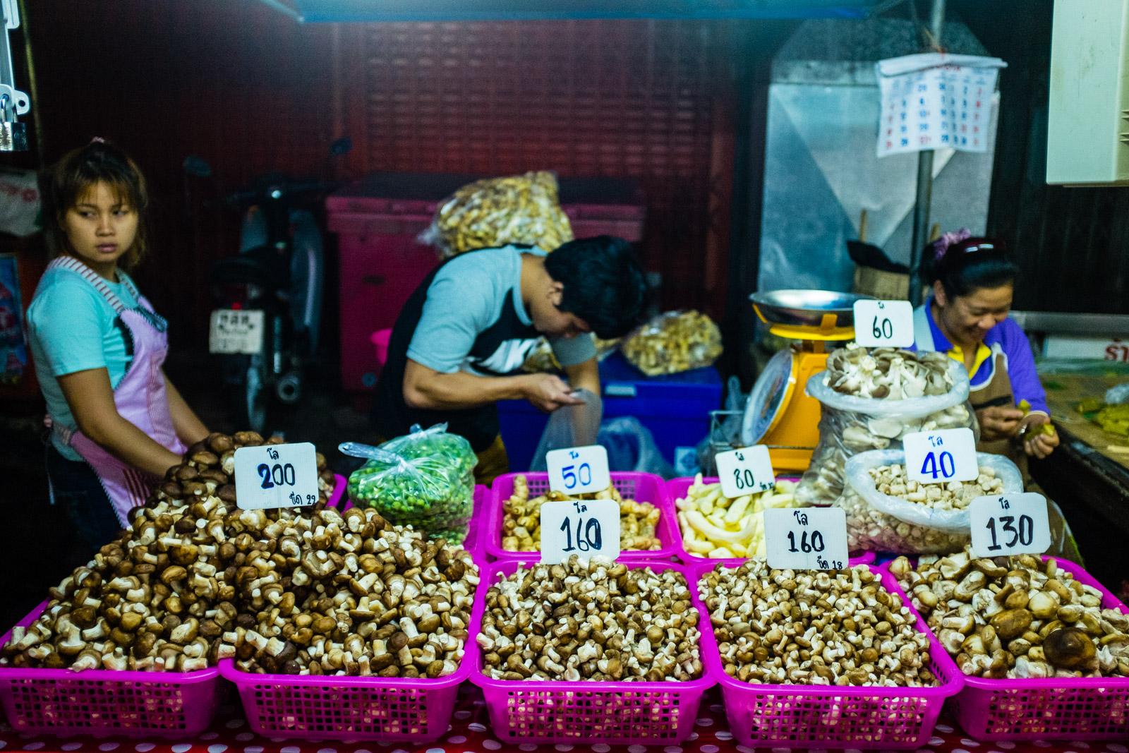 Mushroom stall